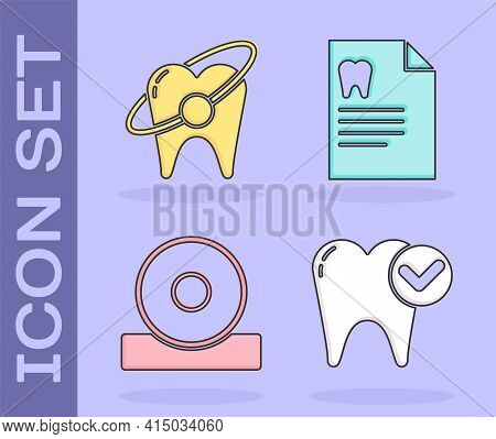 Set Tooth Whitening Concept, Tooth Whitening Concept, Otolaryngological Head Reflector And Clipboard