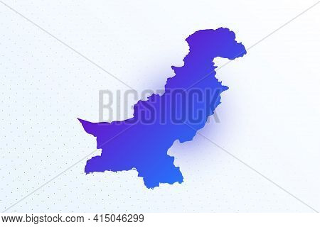 Map Icon Of Pakistan. Colorful Gradient Map On Light Background. Modern Digital Graphic Design. Ligh