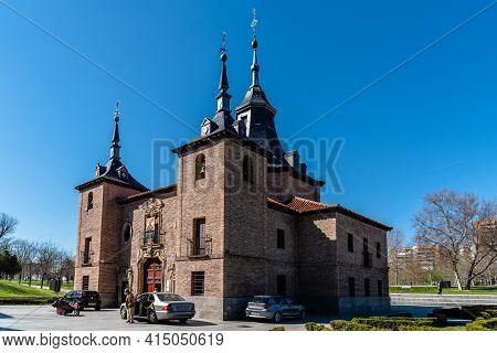 Madrid, Spain - March 14, 2021: Hermitage Of Virgen Del Puerto. It Is Located Close To Royal Palace