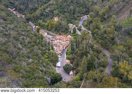 Aerial View Of The Jenolan Caves Village And Bushfire Forest Regeneration In The Central Tablelands