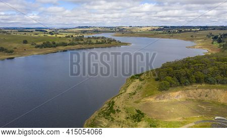 Aerial View Of The Oberon Dam In The Central Tablelands In Regional New South Wales In Australia