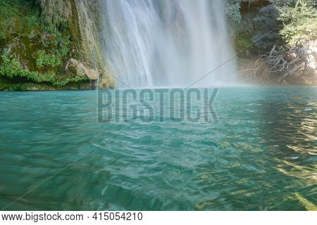 Sillans Waterfall In The South Of France