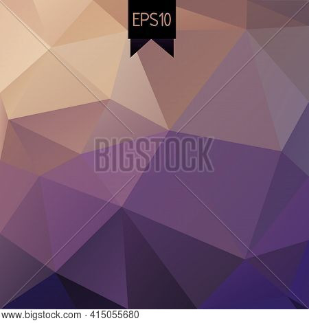 Abstract Rumpled Triangular Background. Low Poly Style Illustration. Label