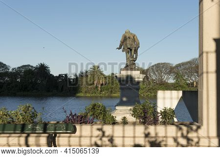 Capital Federal, Buenos Aires, Argentina; Oct 31, 2019: Monument To Luis Viale, Sculpture By The Ita