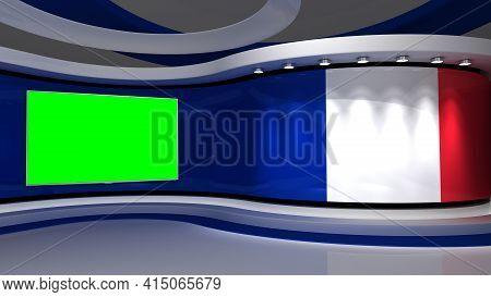 France Flag . Tv Studio. France Flag Background. France Flag Studio. News Studio. The Perfect Backdr