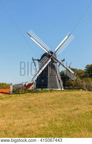 Vennebjerg Mølle, Historic windmill  near Lønstrup, North Jutland, Denmark