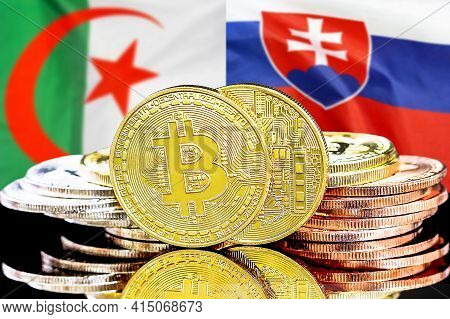 Concept For Investors In Cryptocurrency And Blockchain Technology In The Algeria And Slovakia. Bitco