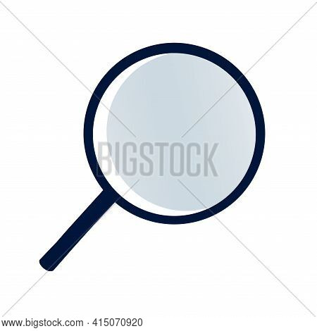 Magnifying Glass Icon Vector Flat Style For Search, Focus, Zoom, Business Illustration. Isolated On