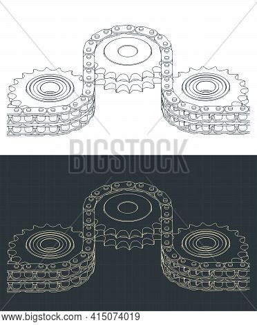 Double Chain Drive Drawings