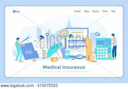 Medical Insurance Contract Document. Insurance Policy On Clipboard. Filling Medical Form, Health Pla