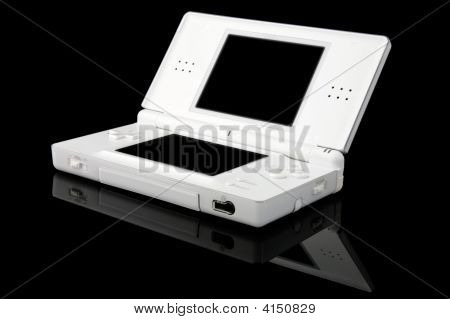 Portable Games Console On Black - Open