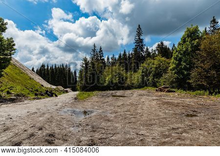 Big Crossroads Of Few Trails In Rudawy Janowickie Mountains