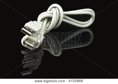 Usb Cable On Black