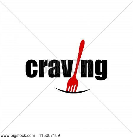 Craving Logo Designs With Text Art For Culinary Or Eatery Graphic Element Template Ideas