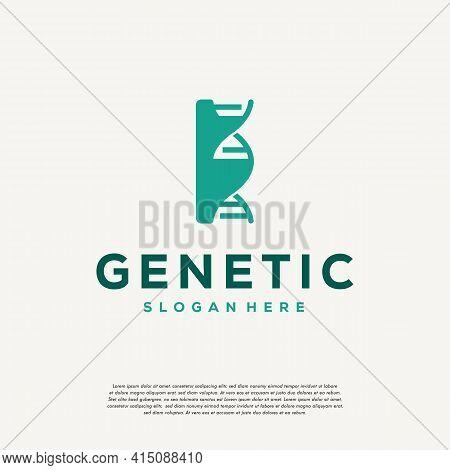 Dna Helix Letter I Logo Designs, Genetics Vector Design, Chromosome Initial Logo Template