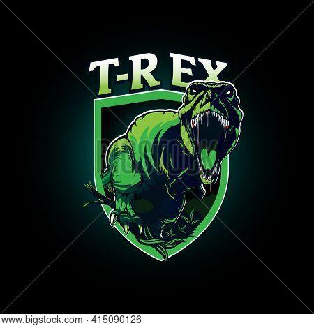 T-rex Insignia Vector Symbol Can Be Use As T-shirt Print Esport Team Logo Etc