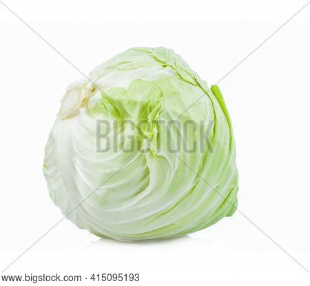 Cabbage (brassica Oleracea Var) Isolated On White Background