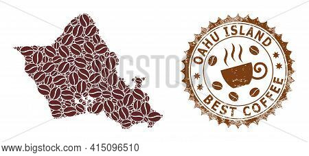 Mosaic Map Of Oahu Island Of Coffee And Grunge Award For Best Coffee