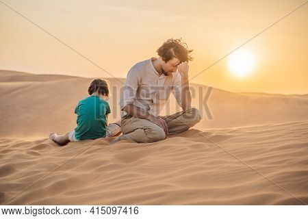 Relationship Problems Between Father And Son. Family Conflict. Dad And Son Have A Heated Relationshi