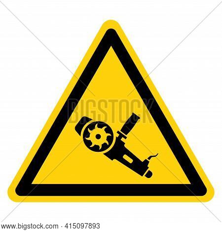 Hand Held Grinding Machine Symbol Sign,vector Illustration, Isolate On White Background Label. Eps10