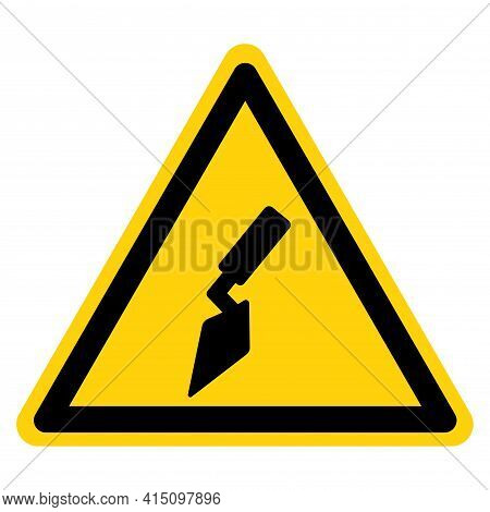 Masonry Trowel Symbol Sign,vector Illustration, Isolate On White Background Label. Eps10
