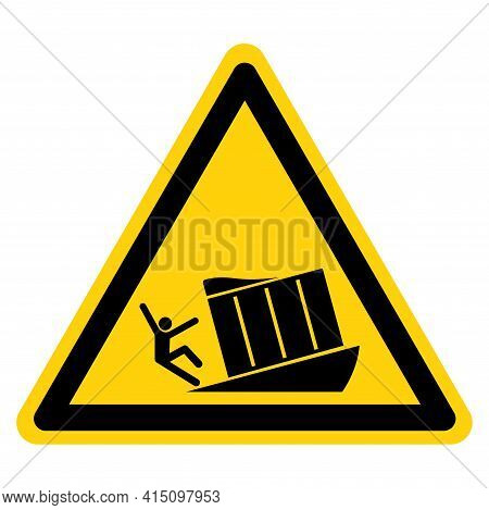 Unsupported Loading Dock Symbol Sign, Vector Illustration, Isolate On White Background Label .eps10