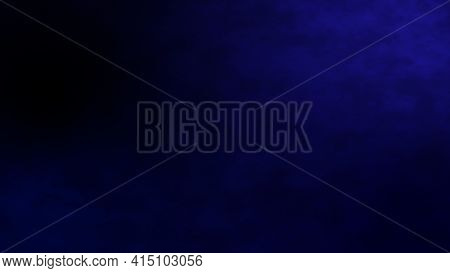 Abstract White Smoke In Slow Motion Dark Blue Background. Blue Flare Light Beam With Smoke And Dust