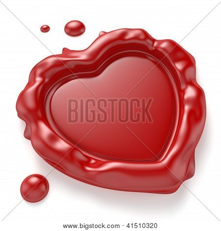 Heart-shaped Wax Seal