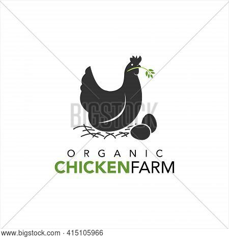 Chicken Farm Logo For Agriculture Template Illustration And Graphic Design Vector Element