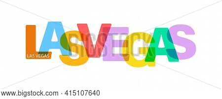 Las Vegas. Lettering On A White Background. Vector Design Template For Poster, Map, Banner. Vector I
