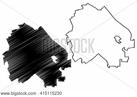 Concord City, California (united States Cities, United States Of America, Usa City) Map Vector Illus