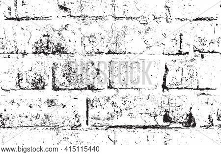 Seamless Pattern With Abstract Brick Wall. Vector Texture In The Grunge Style Suitable For Wallpaper