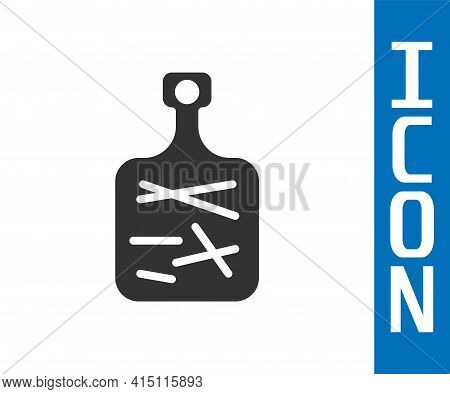 Grey Cutting Board Icon Isolated On White Background. Chopping Board Symbol. Vector
