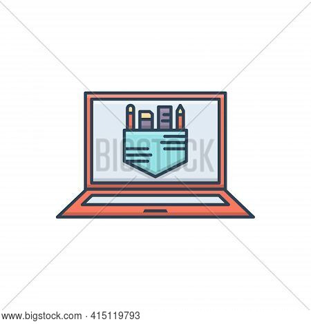Color Illustration Icon For Graphic Tools  Equipment Appliance  Instrument Instrumentation