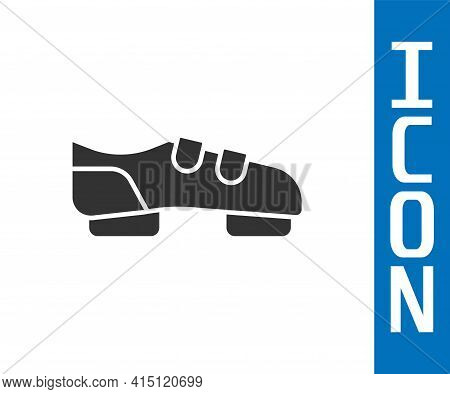 Grey Triathlon Cycling Shoes Icon Isolated On White Background. Sport Shoes, Bicycle Shoes. Vector