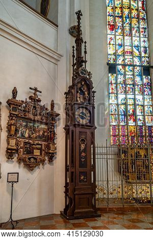 Munich, Germany - Jul 27, 2020: Indoor View Of Frauenkirche Church In Munich, Bavaria In Germany.