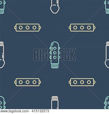 Set Line Dildo Vibrator, Silicone Ball Gag With Belt And Dildo Vibrator On Seamless Pattern. Vector