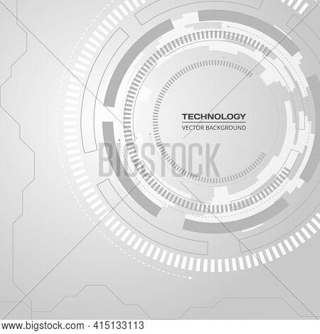Technology Dark Orange Background With Hi-tech Digital Data Connection. Futuristic, High Technology,