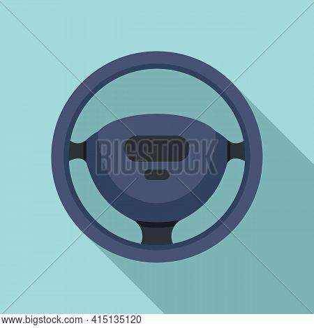 Steering Wheel Icon. Flat Illustration Of Steering Wheel Vector Icon For Web Design