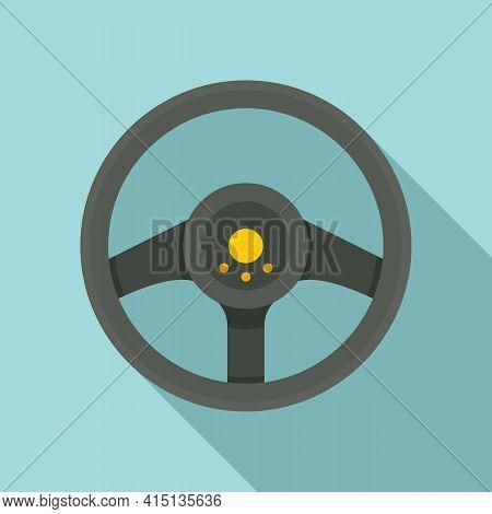 Sport Steering Wheel Icon. Flat Illustration Of Sport Steering Wheel Vector Icon For Web Design