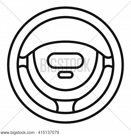 Control Steering Wheel Icon. Outline Control Steering Wheel Vector Icon For Web Design Isolated On W