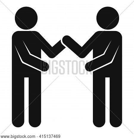 Arm Wrestling Together Icon. Simple Illustration Of Arm Wrestling Together Vector Icon For Web Desig