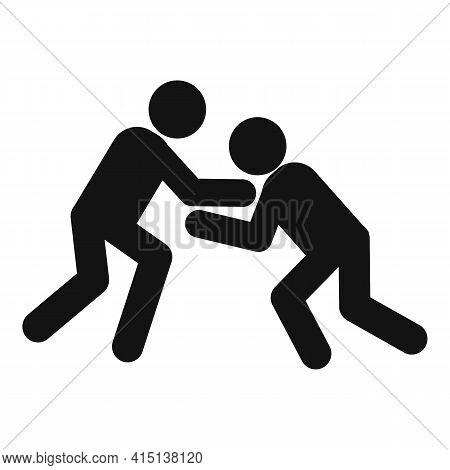 Greco-roman Wrestling Competition Icon. Simple Illustration Of Greco-roman Wrestling Competition Vec