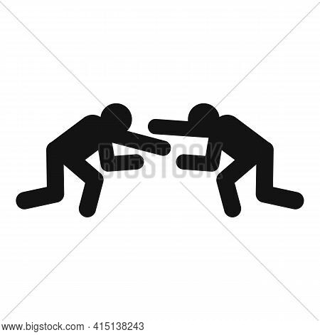 Greco-roman Wrestling Fight Icon. Simple Illustration Of Greco-roman Wrestling Fight Vector Icon For