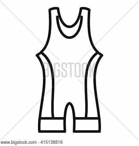 Greco-roman Wrestling Clothes Icon. Outline Greco-roman Wrestling Clothes Vector Icon For Web Design
