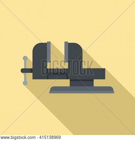 Carpenter Vise Icon. Flat Illustration Of Carpenter Vise Vector Icon For Web Design