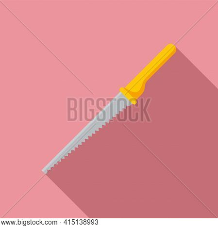 Carpenter Hand Saw Icon. Flat Illustration Of Carpenter Hand Saw Vector Icon For Web Design
