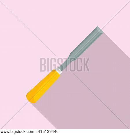 Carpenter Chisel Icon. Flat Illustration Of Carpenter Chisel Vector Icon For Web Design