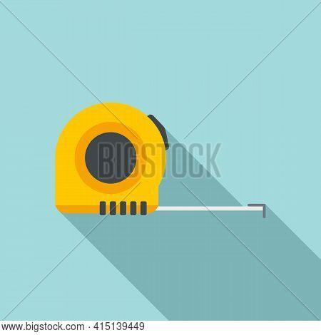 Carpenter Ruler Icon. Flat Illustration Of Carpenter Ruler Vector Icon For Web Design