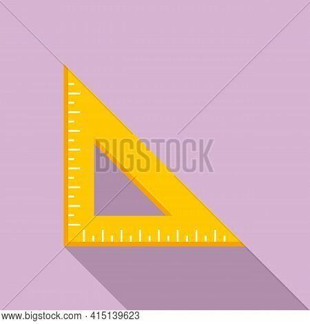 Angle Ruler Icon. Flat Illustration Of Angle Ruler Vector Icon For Web Design